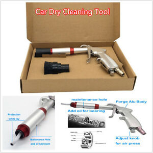 Car Air Dry Cleaning Gun Tornado Pneumatic Spray Dirt Washing Tool W Brush Head
