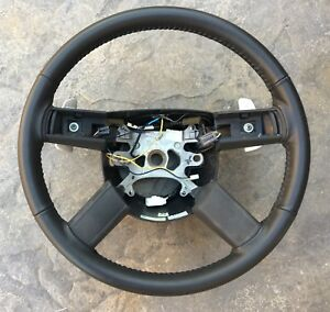 2005 10 Chrysler 300c Charger Magnum Slate Grey Leather Steering Wheel Paddle