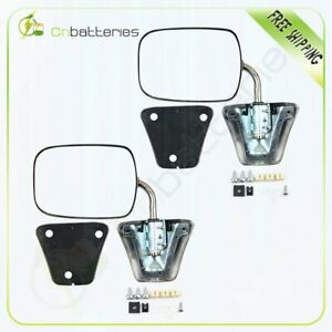 Pair Chrome Door Manual Mirrors For Chevy Gmc Pickup Truck Blazer Side View