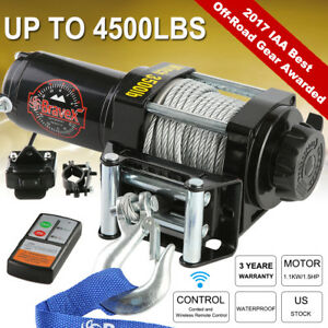 Megaflint 12v 4500lbs Electric Winch Towing Truck Steel Rope Off Road 4000lbs