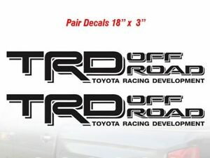 Toyota Trd Off Road Decal Sticker Pair Truck Bed Offroad Tacoma Tundra Decals A2