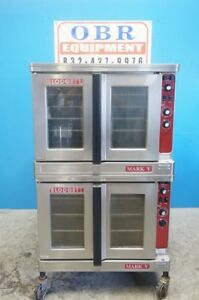 Blodgett Double Stacked Full Size Electric Convection Ovens Model Mark v