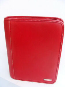 Classic 1 5 Rings Red Sim Leather Franklin Covey Zip Planner binder Perfect