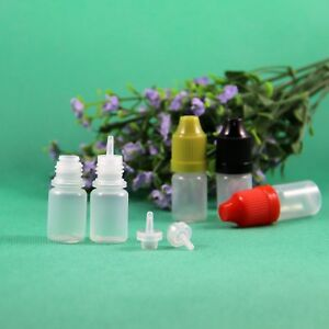 3 Ml Plastic Dropper Bottle Crc Child Proof Caps With Long Thin Tips 100 Pcs lot
