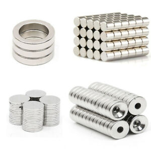 Super Strong Round Magnets Cylinder disc hole Rare earth Neodymium Magnet N50