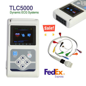 Contec Tlc5000 12 lead Ecg Holter 24hour Monitor Sync Pc Software Analysis Fda