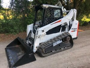 2013 Bobcat T590 Skid Steer Loader W Kubota Diesel Only 1900 Hours