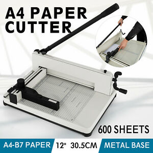 Vevor A4 Paper Cutter 12 Inch Metal Base Trimmer Booking Guillotine Blade New