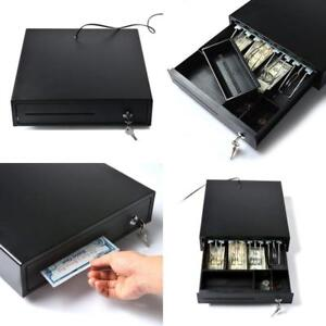 Electronic Cash Drawer Tray Compatible Square Register Pos Printer Black Powder
