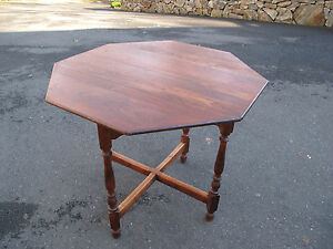 Gustav Stickley Table Cherry Octagonal 33 3 4 Dia W Paper Label 1916 No Reserv