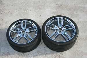 2016 Chevy Corvette Oem Wheels And Tires 2 Wheels