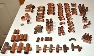 Nibco Epc 1 2 3 4 1 Other Copper 90 Elbows Couplings Mixed Lot Of 110