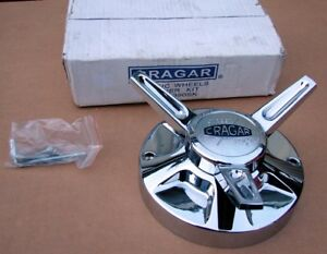 One Cragar Classic 390sk Spinner Flipper Center Hubcap Kit