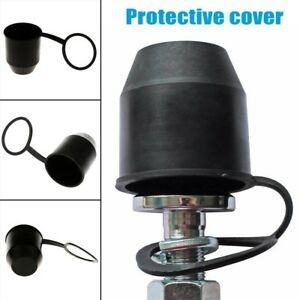Black Tow Bar Ball Cover Cap Car Towing Hitch Towball Trailer Protection Cap