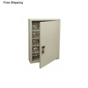 Push Button Lock Box Key Storage 120 Cabinet Wall Mount Valet Holder Container