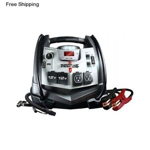 Portable Car Jump Starter Booster Battery Power Source Charger Air Compressor