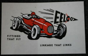Eelco Linkage Decal Sticker Racing Shift Gasser Ford Chevy Gm Olds California