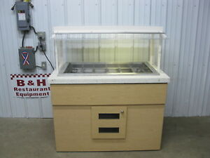 50 Cold Well Salad Bar Refrigerated Buffet Table W Sneeze Guard 4 2