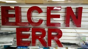 Led Channel Letters 13 Height red Front And Case buy One Or Buy Them All