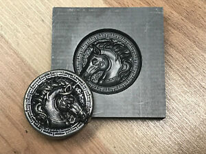 Horse Coin Graphite mold for Silver Gold Glass Ingot casting Art   PRO-MOLD AR8