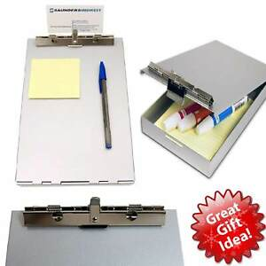 Metal Clipboard Letter Storage Office Document Paper Box Organizer Container New