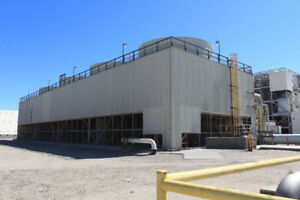 Fiberglass And Stainless Steel Constructed Midwest Cooling Tower power Plant
