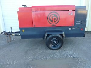 2013 Chicago Pneumatic Cps400 Portable Air Compressor Cummins Diesel 875 Hours