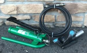 Greenlee 800 Hydraulic Cable Bender With 1725 Foot Pump nice Set 1