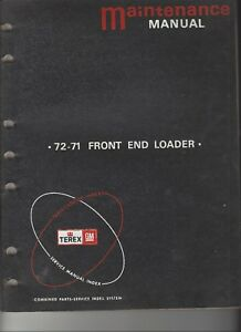 Terex 72 71 Maintenance And Service Manuals