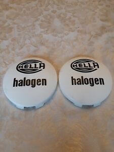 Vintage Hella 140 Halogen Fog Light Covers Plastic 5 5 140mm Bmw Vw Porsche