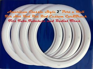 15 White Wall Tire Insert Trim Set For Vw Special Jeans Beetle Cabriolet Bug