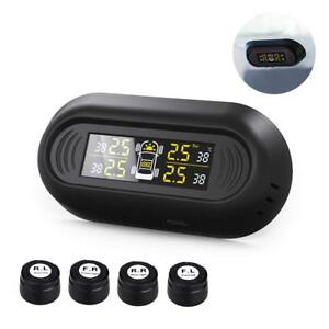 Favoto Tpms Car Tire Pressure Monitoring System Wireless Solar Powered