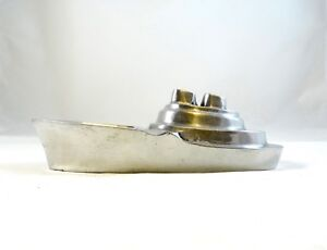 Art Deco Chromed Streamline Ship Ozean Liner Boat Object Paperweight 30s