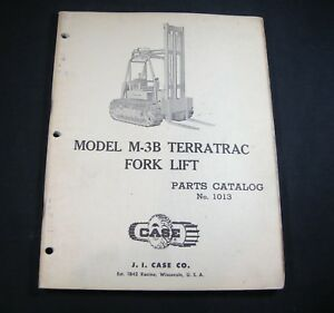 Case M 3b Terratrac Forklift Lift Truck Parts Manual Book Catalog Fork Lift M3b