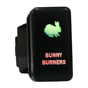 12v Push Switch 827gr Bunny Burners For Toyota Fj Cruiser 4runner Led Green Red