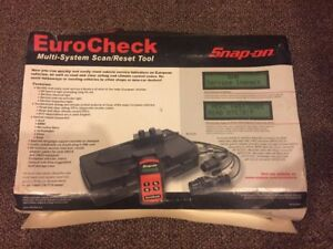 Snap On Eurocheck Plus Multi System Reset Tool Scanner Scan Tool Engine Car Dash