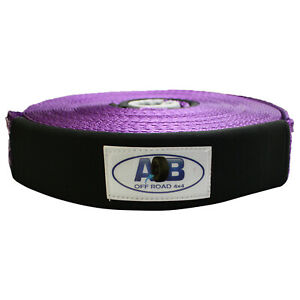 Aob 11000lbs 5000kgs 4wd Recovery Tow Winch Extension Strap 2 X 66ft