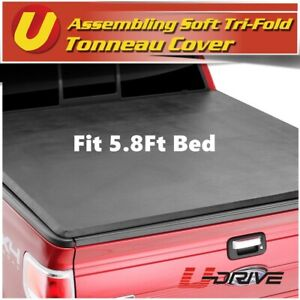 Fits 2007 2013 Gmc Sierra 5 8 Bed Vinyl Soft Assembly Tri Fold Tonneau Cover