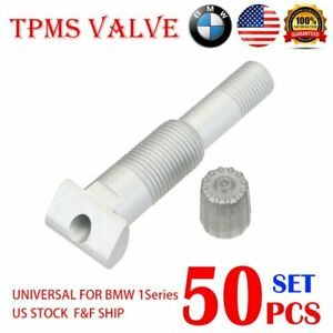 50x Tpms Valve System Repair Kit W 50x Valve Adapter For Bmw 1 Series 14 Us A