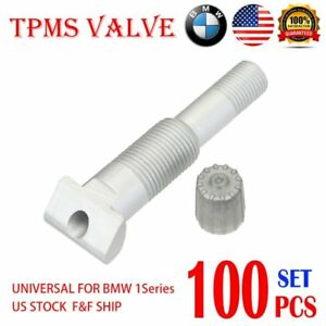 100x Tpms Valve System Repair Kit 100x Valve Adapter For Bmw 1 Series 14 Us A