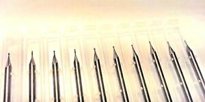 1 32 Dia X 3 32 Cut 2 Flute Square Solid Carbide End Mill Made In Usa 10 pack