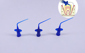 2000pc Dental Irrigator Syringe Tips Endodontic Irrigation Needle Intraoral Blue