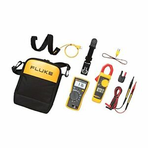 Multimeter Test Kit Fluke Tester Clamp Meter Combo Set Best For Hvac Technicia