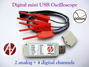 Domini Digital Mini Usb Oscilloscope 2 Analog 4 Digital Channels