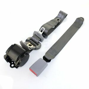 For Nissan Car Bus 3 Point Safety Adjustable Seat Belt Universal Extender Gray