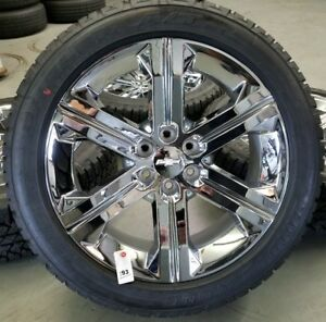 Genuine Oem 22 Chrome Chevy Gmc Wheels And Tires Ck157 19301157