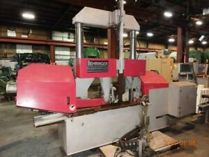 Horiz Band Saw 20 X 20 Behringer Auto Feed 2 post 2 Blade 10 Hp 2005