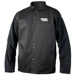 Lincoln Electric K3106 Traditional Split Leather Sleeved Welding Jacket Xl