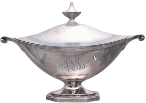 Gorham Sterling Gravy Tureen With Handles And Finial