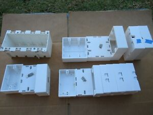 Lot Of 17 White Plastic Electrical Boxes Ow4 68 5060 5070 5072